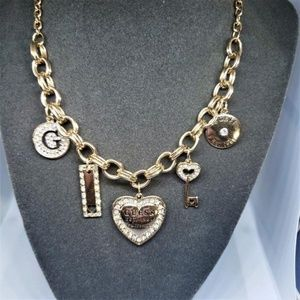 "NWT Guess Charm Necklace (16"" - 20"")"
